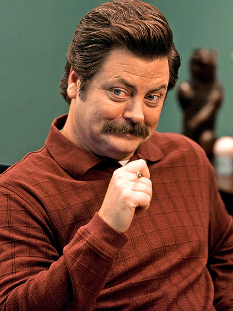Yes, fatherhood has made Parks and Rec 's resident curmudgeon (Nick Offerman) slightly more patient and empathetic. But it hasn't softened his edge. He's still…