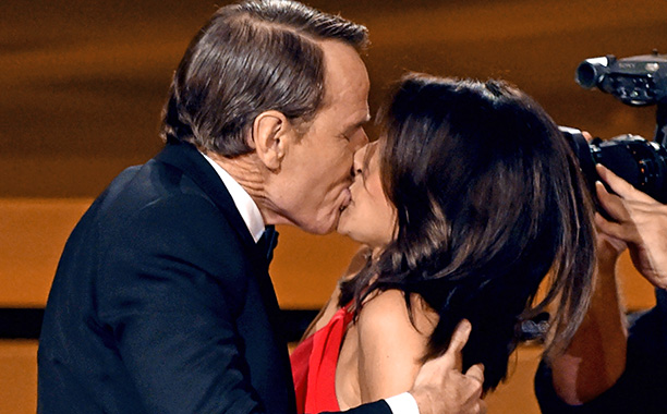 One of the best speeches of the night happened before any actual words were exchanged—only saliva. When five-time Emmy winner Julia Louis-Dreyfus earned her third…