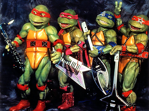 Teenage Mutant Ninja Turtles | One thing remains constant between the 1990 and 2014 films: The reptilian warriors—despite their chronological age of 30 years old—are still very much teenagers. ''Turtles…