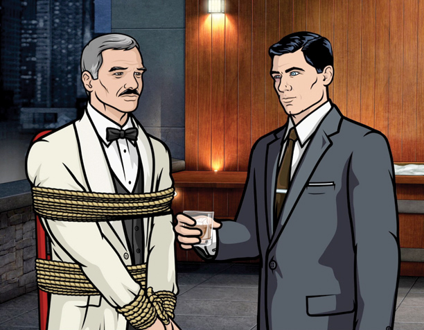 On this animated spy spoof, Archer (voiced by H. Jon Benjamin) is the smooth, wisecracking spy archetype to the extreme, as skillful in the sack…