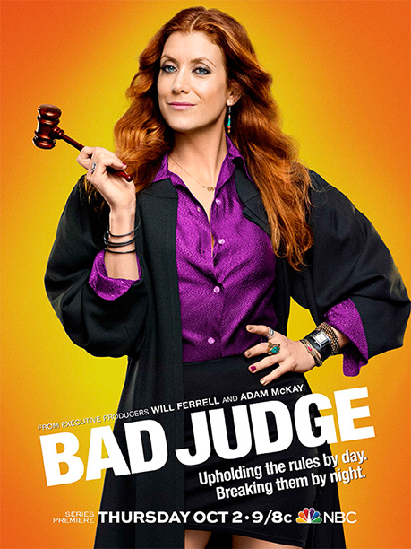 NBC's bad judge could be a little badder than this. One extra blouse button undone and a short-ish skirt is more like Slightly Immodest Judge…