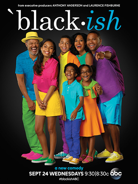 Those clothes! It's like they're dressed as Skittles. Or if ABC took one of Bill Cosby's gaudy sweaters from The Cosby Show in the 1980s…