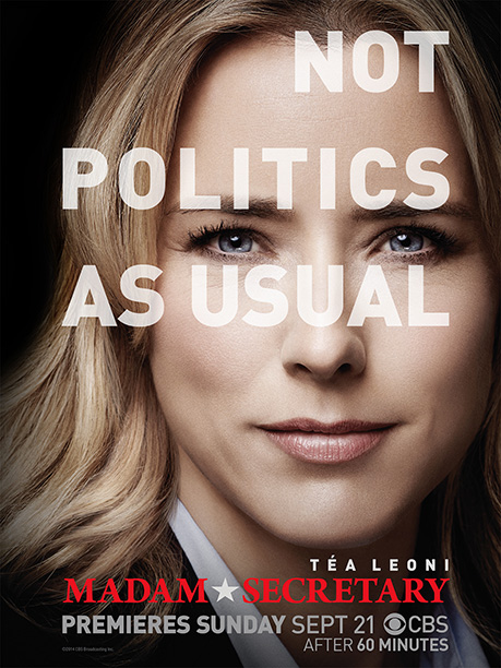 Every actor in fall TV ads gets airbrushed, but rarely is a face this close. Tea Leoni looks like she's been sculpted into a worshipful…