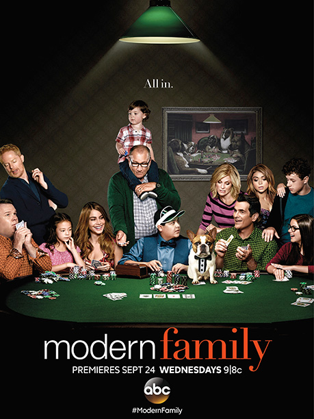 A fun (if busy) ad that reminds you why you watch—or used to watch— Modern Family . I appreciate that they're getting away from that…