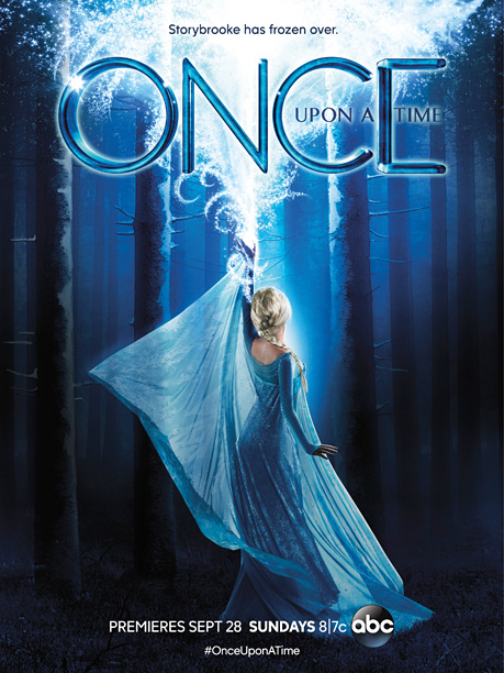 Sorry Once Upon stars, ABC is pushing the big Frozen storyline this fall, so you're off the poster. I suspect the only reason Elsa isn't…