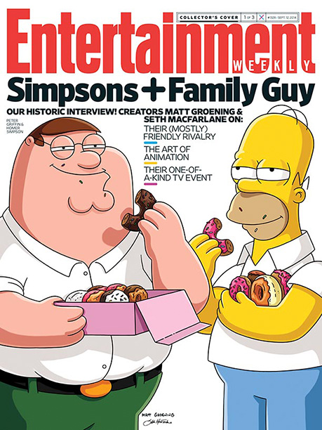 Family Guy, The Simpsons | For more inside intel on the Animation Domination crossover, pick up a copy of this week's Entertainment Weekly on newsstands or buy a copy now…