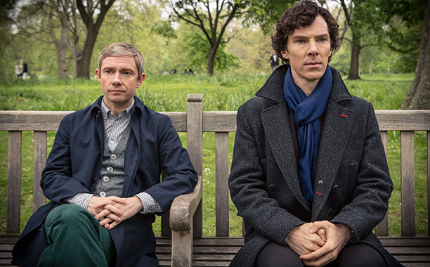 DEDUCTION SEDUCTION? We can't get enough of their bromance in Sherlock .
