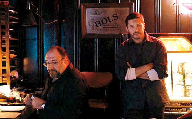 THE DROP James Gandolfini and Tom Hardy