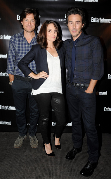 Jason Bateman, Tina Fey, and director Shawn Levy, This Is Where I Leave You
