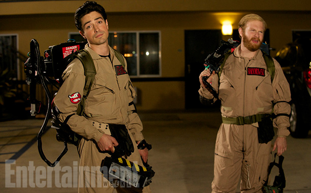 Oct. 30: Andrew (Ben Feldman) and Stu (Henry Zebrowski) as Ghostbusters, A to Z