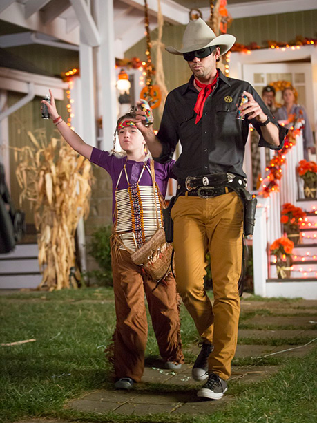 Oct. 28: Marcus (Benjamin Stockham) as Tonto and Will (David Walton) as the Lone Ranger, About a Boy