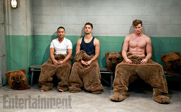 Oct. 22: Tucker (Tahj Mowry), Ben (Jean-Luc Bilodeau), and Danny (Derek Theler) as The Three Bears, Baby Daddy
