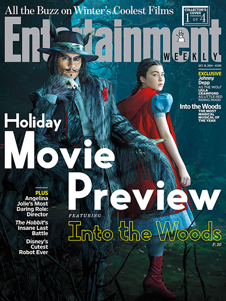 Into the Woods | For more about Johnny Depp's Wolf and Lilla Crawford's Red, pick up a copy of EW on newsstands or buy a copy now .