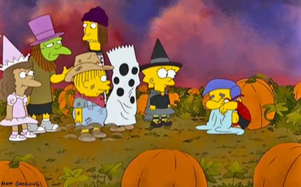 The Simpsons | Treehouse of Horror XIX , 2008 Executive producer Al Jean says that the show had to wait years to parody Charlie Brown's classic Halloween special,…
