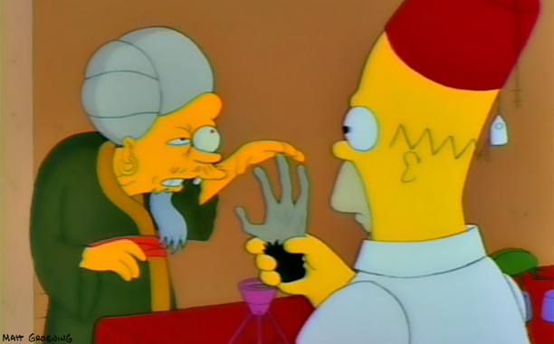 The Simpsons | Treehouse of Horror II , 1991 A classic spin on the ultimate ''be careful what you wish for'' tale that doubles as self-aware jab at…