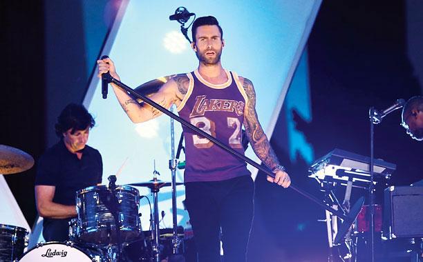 V Adam Levine of Maroon 5