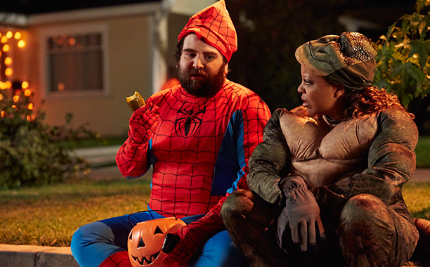 Oct. 28: Gil (John Gemberling) as Spider-Man and Kay (Tymberlee Hill) as Lizard, Marry Me