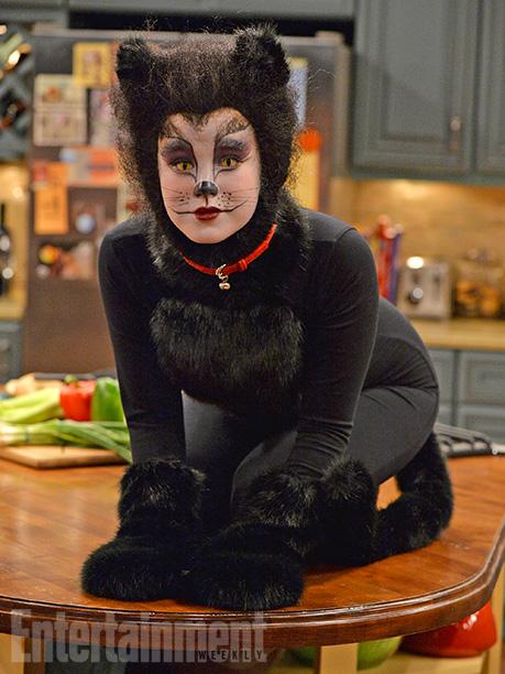 Oct. 22: Lennox (Taylor Spreitler) as a black cat, Melissa & Joey