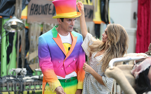 Oct. 29: Phil (Ty Burrell) and Haley (Sarah Hyland), Modern Family