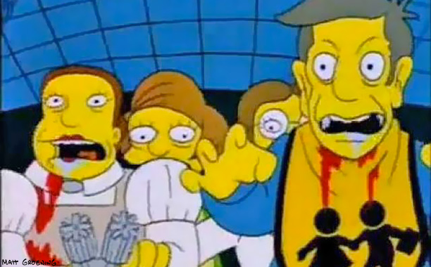 The Simpsons | Treehouse of Horror V , 1994 Springfield Elementary's detention room is getting dangerously overcrowded. Budget cuts have reduced Lunchlady Doris to using Grade F. meat.…