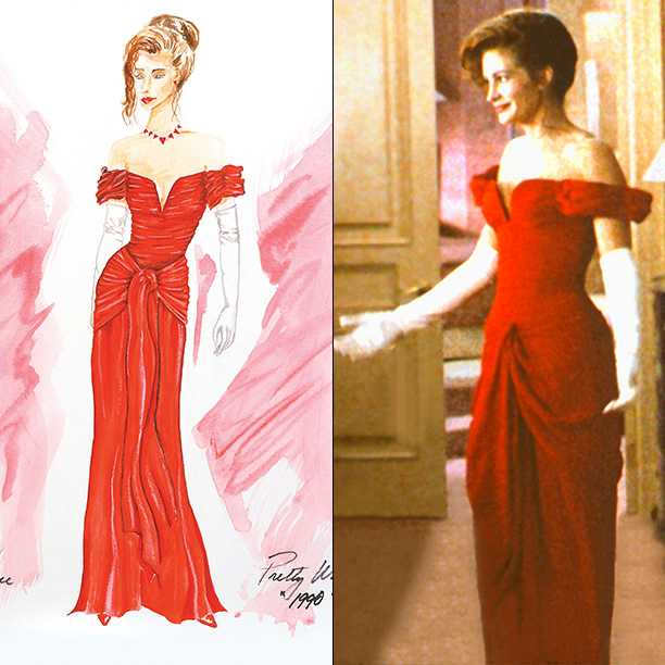 Designer: Marilyn Vance Vance battled to get hooker Vivian Ward (Julia Roberts) into this dress. Disney wanted black. Director Garry Marshall wanted a ball gown.…