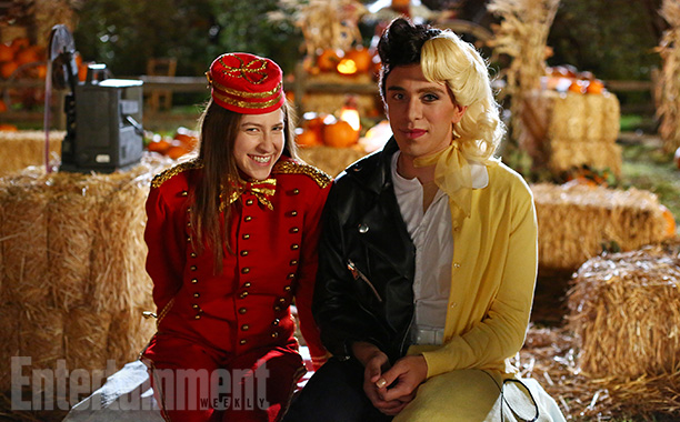 Oct. 29: Sue (Eden Sher) as an usher with Brad (Brock Ciarlelli) as Danny/Sandy, The Middle