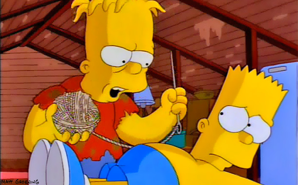 The Simpsons | Treehouse of Horror VII , 1996 Turns out that Bart was born a Siamese twin. (Lisa: ''I believe they prefer to be called 'conjoined twins.'''…