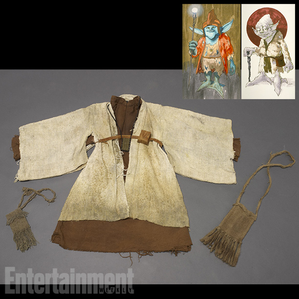 Star Wars | Costume designer John Mollo took the Empire Strikes Back screenplay's description of Yoda to design a character who wore a ''heavily broken-down version of Ben…