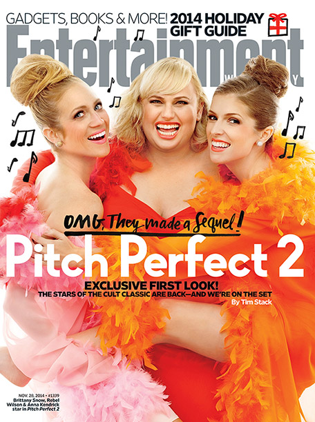 Anna Kendrick, Brittany Snow, ... | For more on the aca-sequel to the 2012 cult favorite, pick up a copy of EW on newsstands today or buy a copy now .