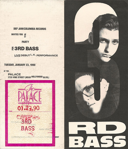 Invite for a 3rd Bass label showcase.