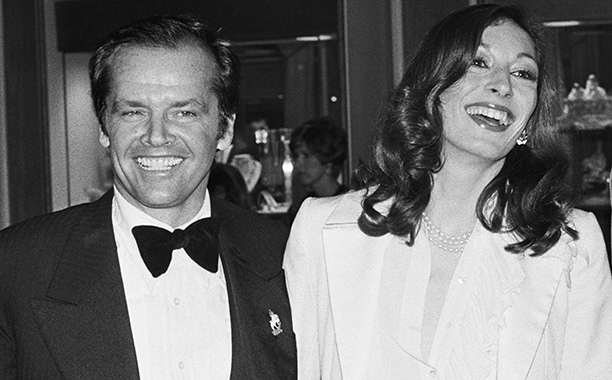 Jack Nicholson and Anjelica Huston at the Oscars in 1976