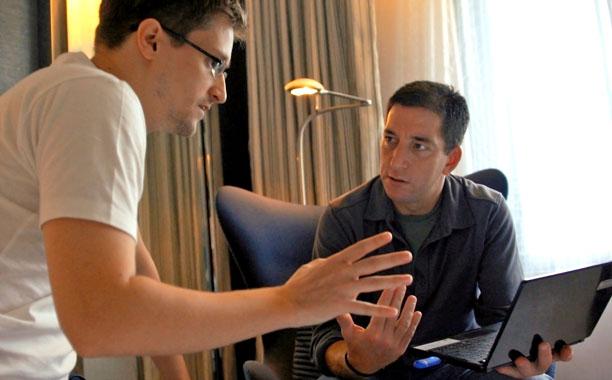 CITIZENFOUR Edward Snowden and Glenn Greenwald in Hong Kong