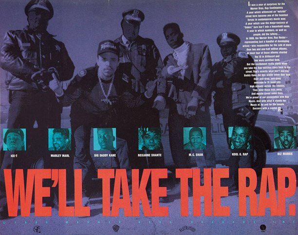 In 1988 the hip-hop genre still existed well outside the mainstream, and the controversy surrounding it meant that this Warner Bros. ad from the time…