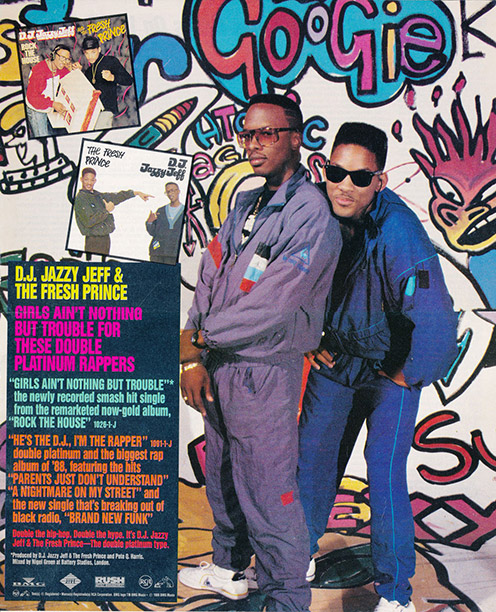An early DJ Jazzy Jeff and the Fresh Prince print ad.