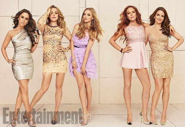 Lacey Chabert, Rachel McAdams, Amanda Seyfried, Lindsay Lohan, and Tina Fey