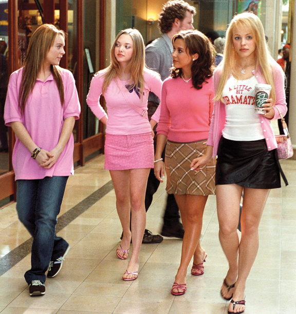 Lindsay Lohan, Amanda Seyfried, Lacey Chabert, and Rachel McAdams, Mean Girls