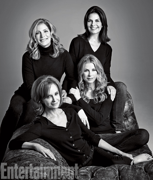 Clockwise from top left: Patricia Kalember, Sela Ward, Julianne Phillips, and Swoosie Kurtz, Sisters