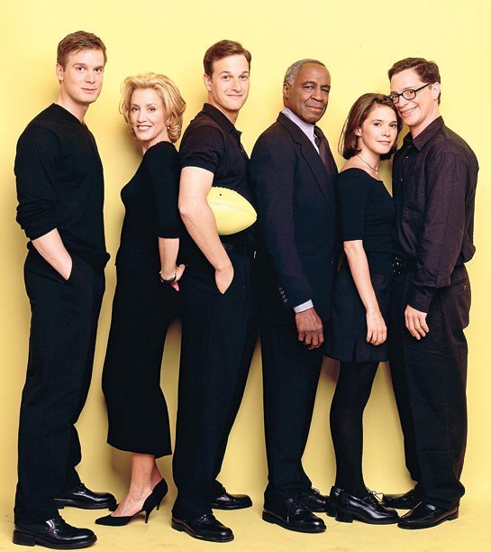 Peter Krause, Felicity Huffman, Josh Charles, Robert Guillaume, Sabrina Lloyd, and Joshua Malina, Sports Night
