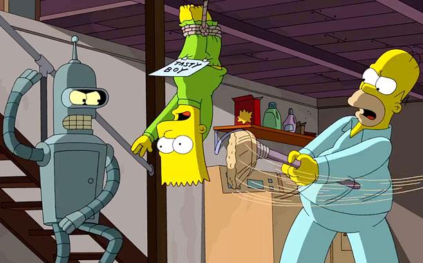 Simpsons Futurama Clip