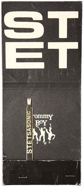 A promotional matchbook for the Brooklyn group Stetsasonic, a sprawling group in the era of solo acts and duos.