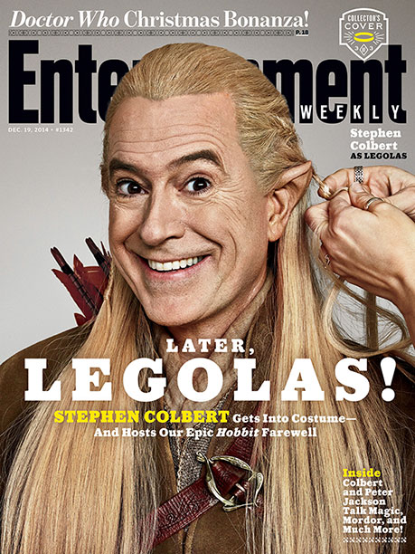 Stephen Colbert | For more on the host of The Colbert Report , as well as an exclusive look at The Hobbit: Battle of the Five Armies ,…