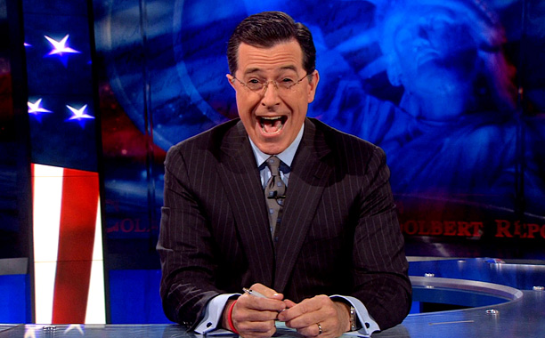 17. Stephen Colbert signs off The Colbert Report with an epic goodbye singalong