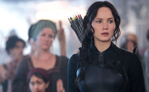 Jennifer Lawrence in The Hunger Games: Mockingjay—Part 1