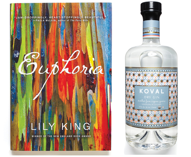Books + Booze Pairing: Euphoria ($25) & Koval Gin Lily King's novel—in which a narrator reflects on his lost love, a Margaret Mead-like anthropologist, and…