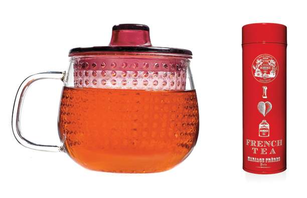 Give them the coziest reading companion of all: the Unimug tea infuser ($17, momastore.org ) with Mariage Frères French tea ($32, mariagefreres.com ).