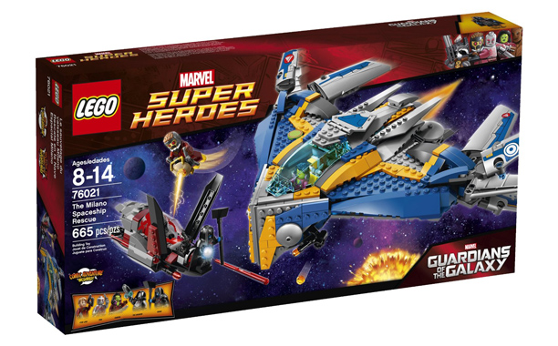Including figures of Star-Lord, Gamora, Drax, and Ronan the Accuser, you literally have the Guardians of the Galaxy—not to mention one of the coolest spaceships…