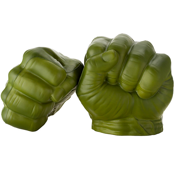 For added fun, get two sets, and stage Hulk Fights with your co-workers. Human resources? Hulk smash puny human resources! — Darren Franich