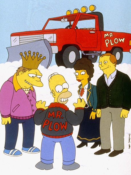 The Simpsons | Airdate: Nov. 19, 1992 ''Call Mr. Plow, that's my name/That name again is Mr. Plow!'' Those 12 words of insipid brilliance stand testament to one…