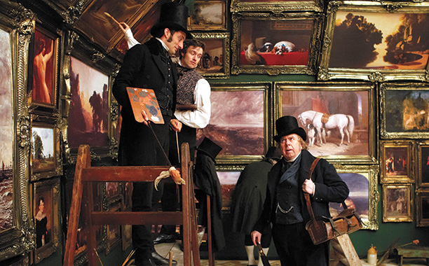Tom Edden, Jamie Thomas King, and Timothy Spall in Mr. Turner
