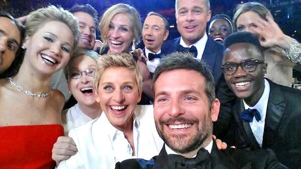 Oscars Ellen Selfie